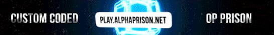 AlphaPrison Minecraft Server